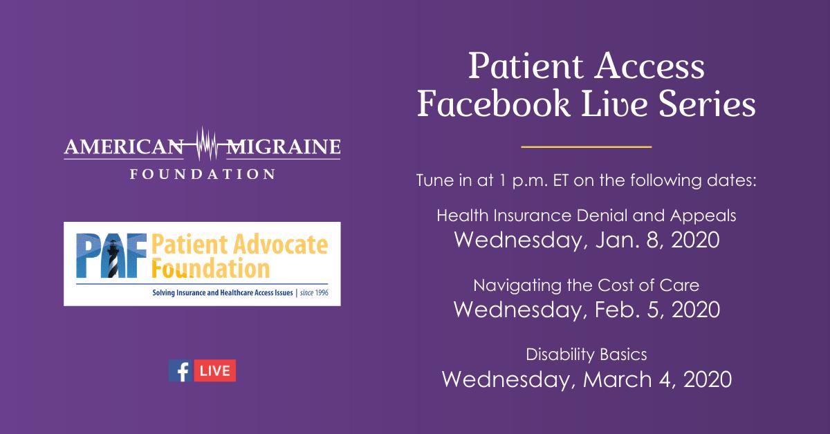Patient Access Facebook Live Series