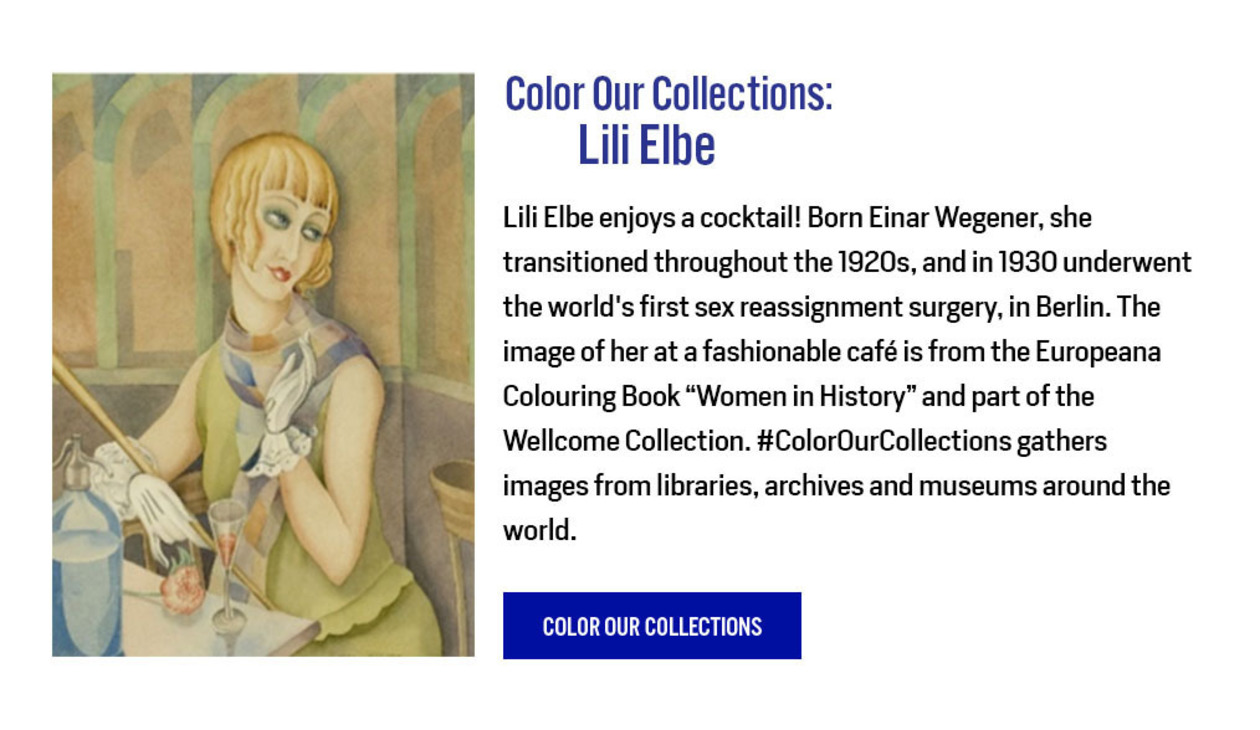 Color Our Collections: Lili Elbe