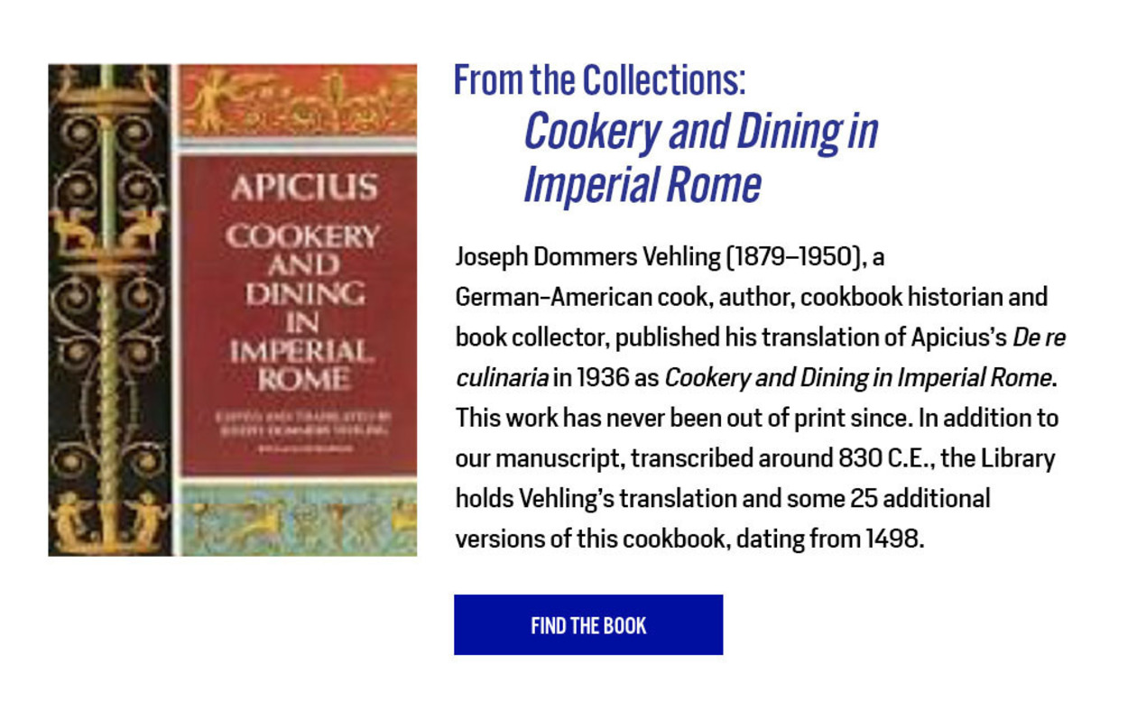 From the Collections: Cookery and Dining in Imperial Rome