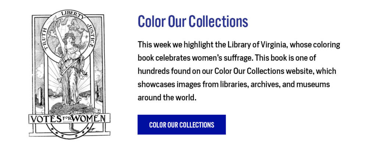 Color Our Collections: Library of Virginia: https://library.nyam.org/colorourcollections/library-of-virginia-coloring-book-2020/