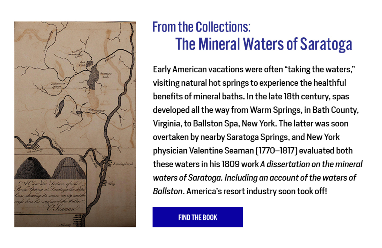 From the Collections: The Mineral Waters of Saratoga