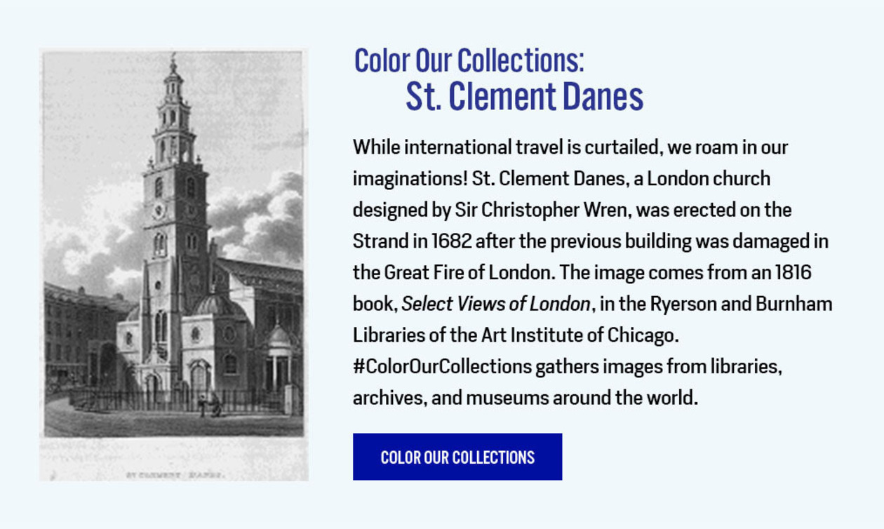 Color Our Collections: St. Clement Danes