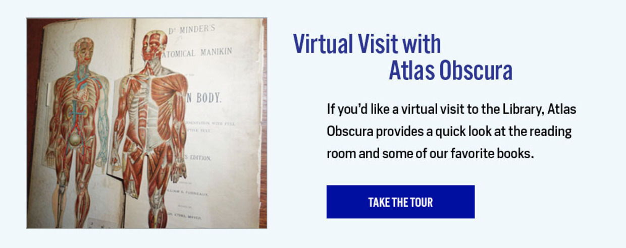 Virtual Visit with Atlas Obscura - Take the Tour: https://www.atlasobscura.com/places/new-york-academy-of-medicine-rare-book-library