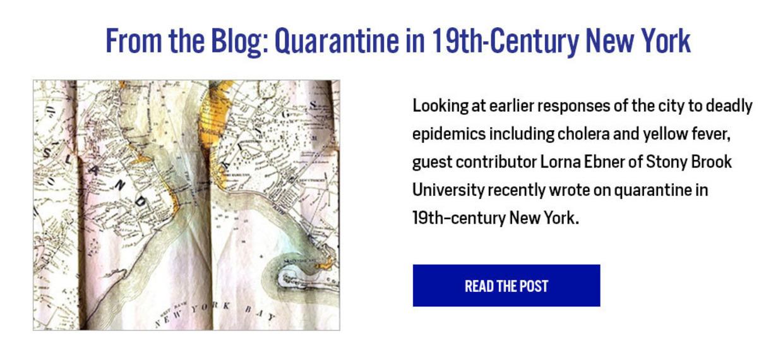 From the Blog: Quarantine in 19th-Centurt New York - Read the Post here: https://nyamcenterforhistory.org/2020/04/14/quarantine-in-nineteenth-century-new-york/