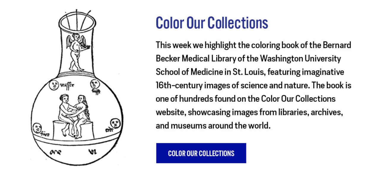 Color Our Collections: Bernard Becker Medical Library - http://library.nyam.org/colorourcollections/wp-content/uploads/sites/5/2020/02/2020-Becker-Library-Color-our-Collections-booklet.pdf