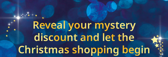 Reveal your mystery discount and let the Christmas shopping begin
