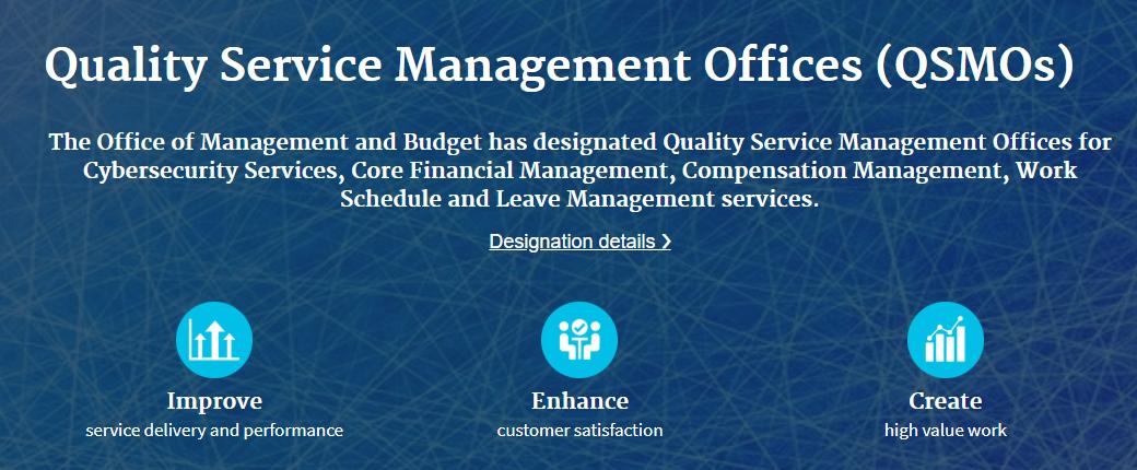 Quality Service Management Office Designations
