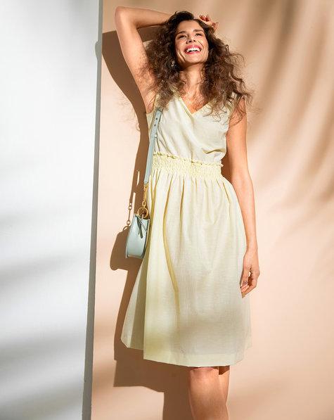 Smocked Waistline Dress