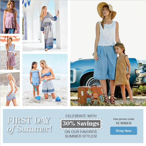 First Day of Summer Sale