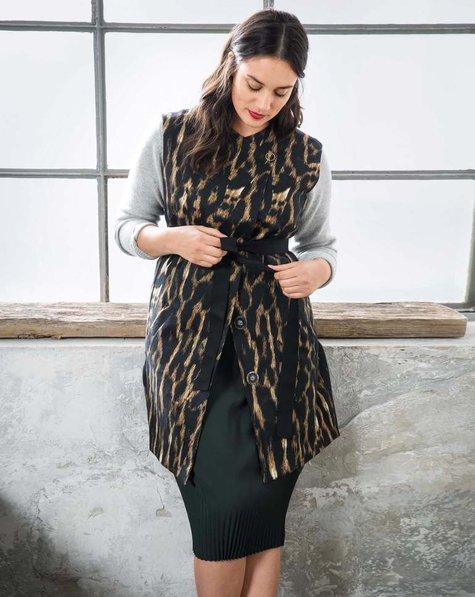 Leopard Waistcoat (Plus Size)