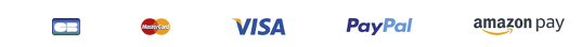 Différents moyens de paiements acceptés: Carte Bleue, Master Card, Visa, PayPal, Amazon pay