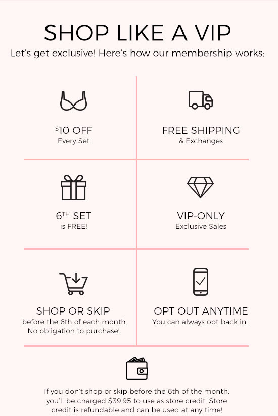 Shop like a VIP - Let's get exclusive! Here's how our membership works