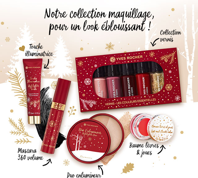 Notre collection maquillage pour un look éblouissant!