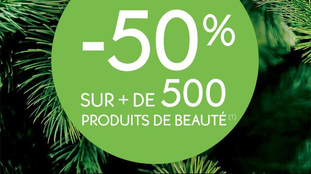 -50% sur + de 500 produits de beauté (1)