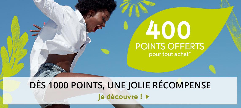100 points offerts pour tout achat*