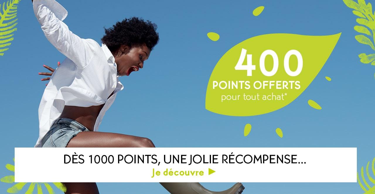 400 Points offerts grâce à LaJolieCarte*