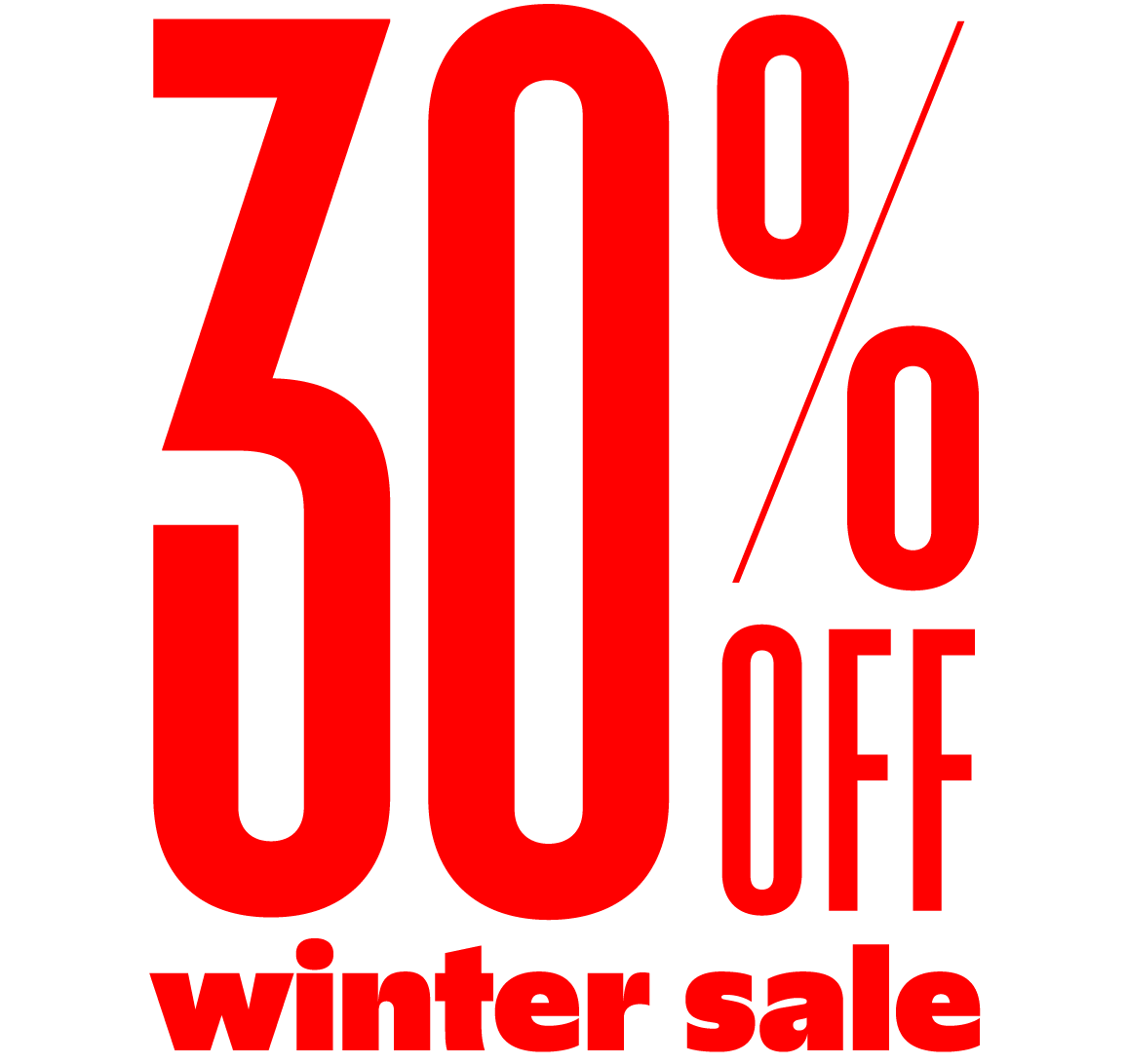 Winter sale: take 30% off