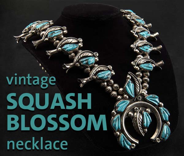 Win this vintage squash blossom necklace in our raffle