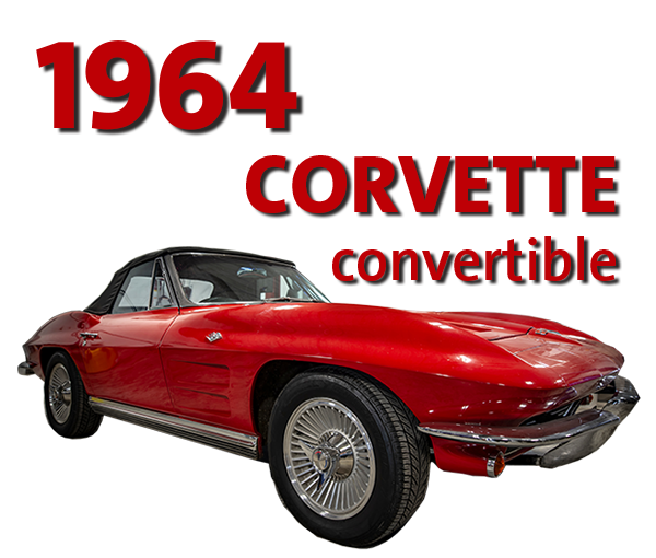 Win this 1964 Corvette convertible in our raffle