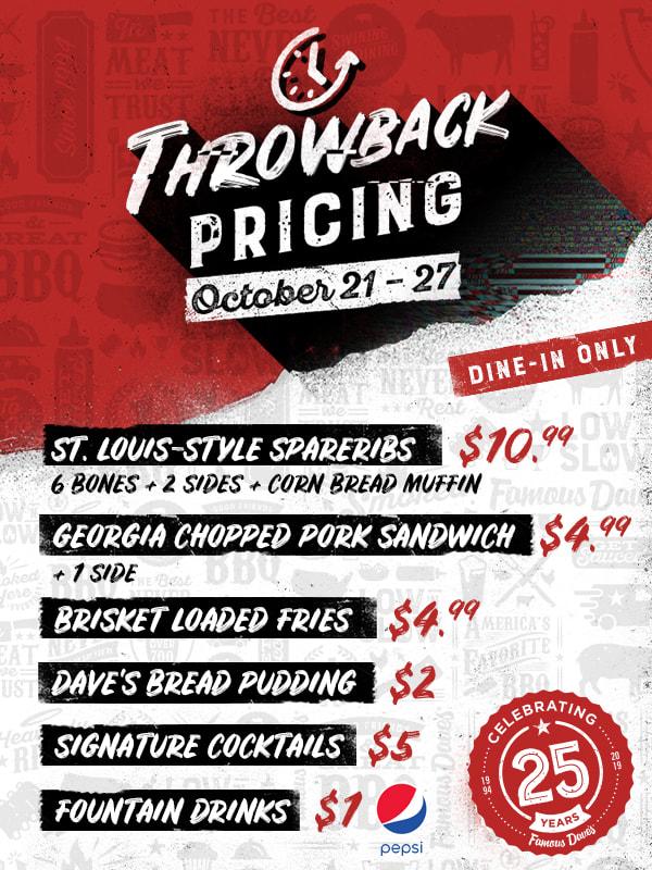 Throwback Pricing
