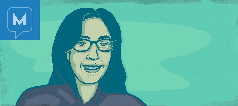 Portrait of the author, Lisa.