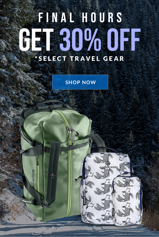 30% Off Select Travel Gear - Shop Now