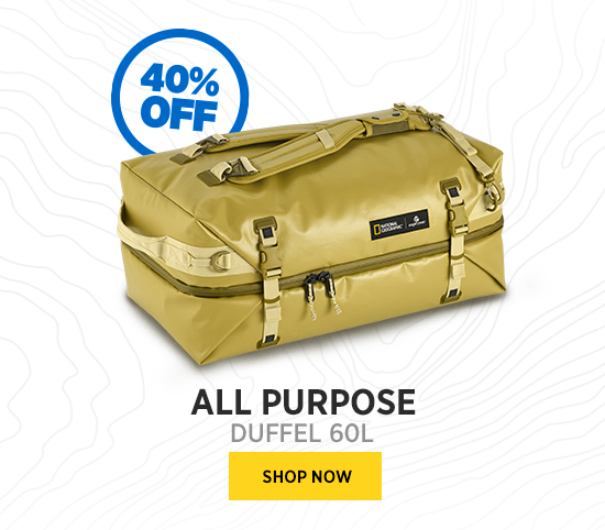 ALL PURPOSE DUFFEL 60L SHOP NOW