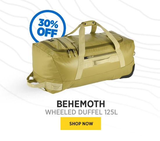 BEHEMOTH WHEELED DUFFEL 125L SHOP NOW