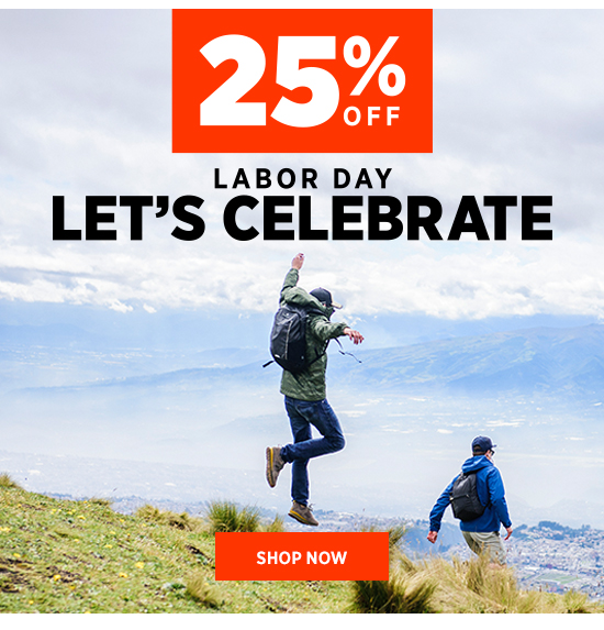 25% OFF LABOR DAY LETS CELEBRATE