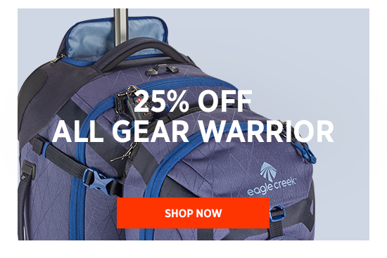 25% OFF ALL GEAR WARRIOR