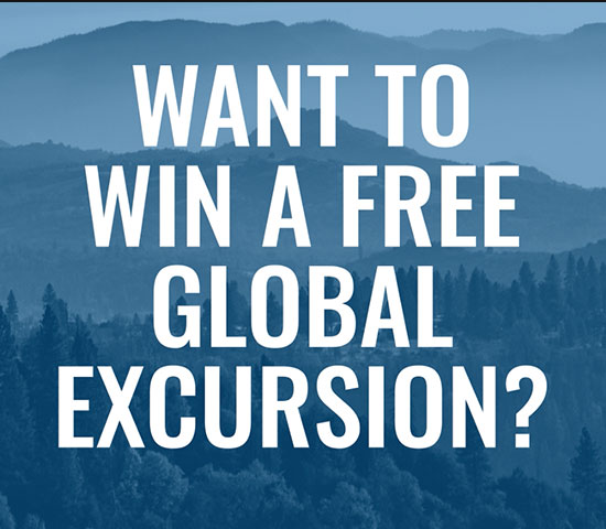 Want to win a free global excursion?