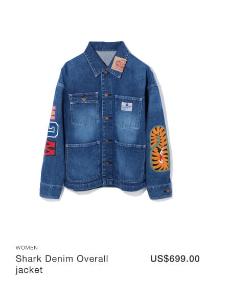 Shark Denim Overall jacket