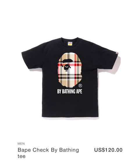Bape Check By Bathing tee