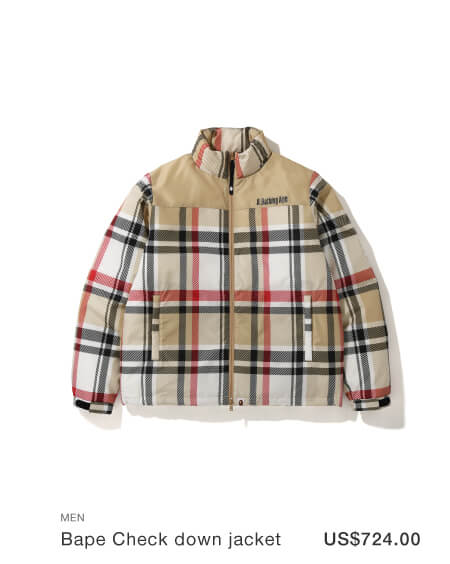 Bape Check down jacket