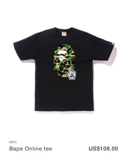 A BATHING APE® Color Bape Online tee
