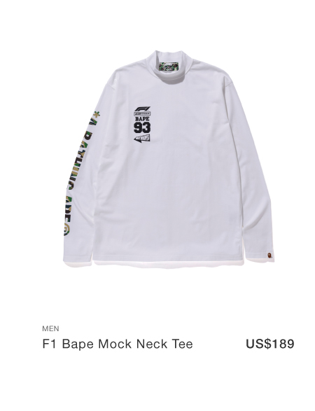 F1 Bape mock neck tee
