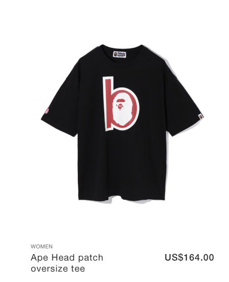 A BATHING APE® Ape Head patch oversize tee