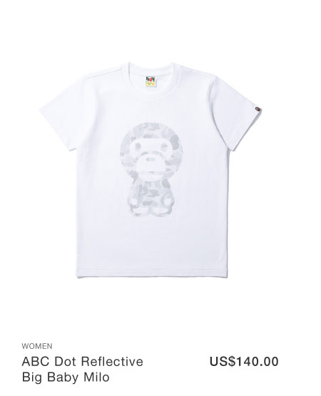 A BATHING APE® ABC Dot Reflective Big Baby Milo tee