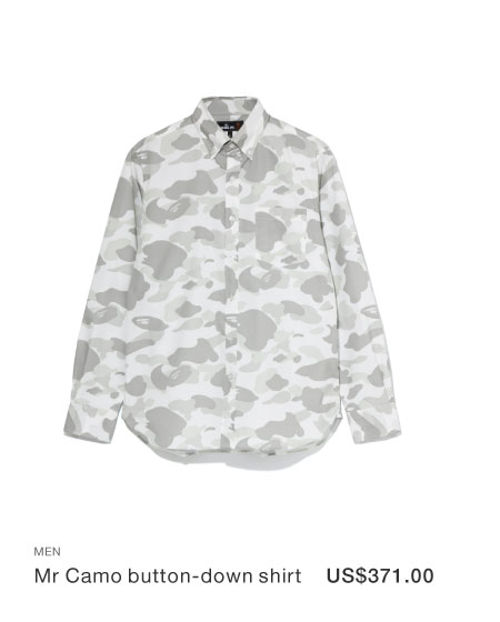 A BATHING APE® Mr Camo button-down shirt