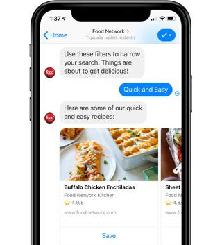 Food Network on Facebook Messenger