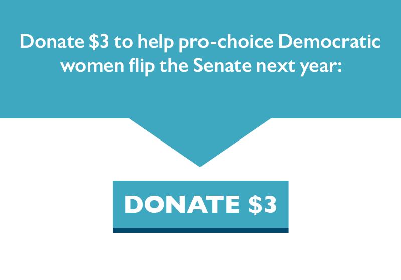 Donate $3 to help pro-choice Democratic women flip the Senate next year.