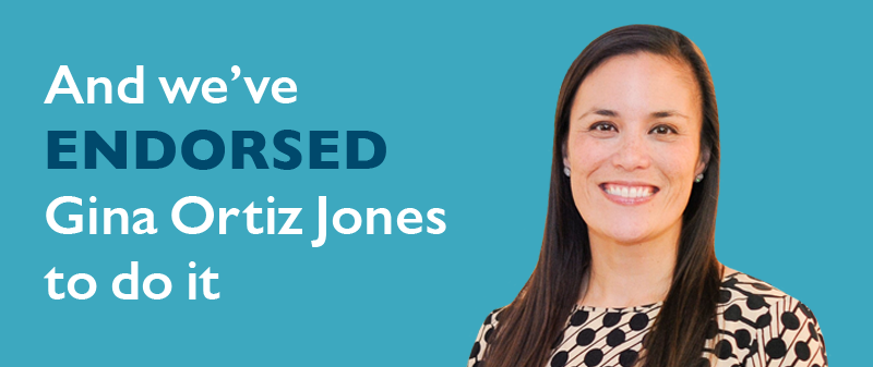 And we've endorsed Gina Ortiz Jones to do it.