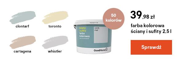 farba kolorowa sciany i sufity 2,5 l