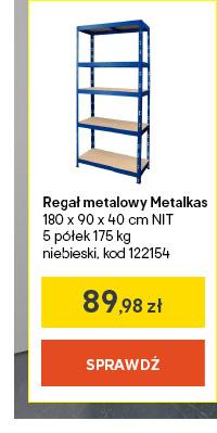 Regal metalowy Metalkas 180 x 90 x 40 cm NIT 5 p?lek 175 kg niebieski, kod 122154