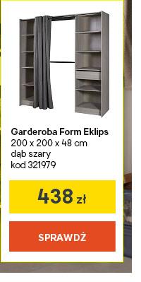 Garderoba Form Eklips 200 x 200 x 48 cm dab szary kod 321979