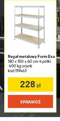 Regal metalowy Form Exa 180 x 150 x 60 cm 4 p?lki 400 kg ocynk kod 119463