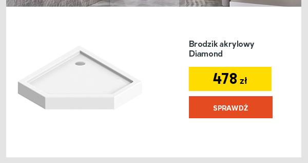 Brodzik akrylowy Diamond