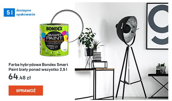 Farba hybrydowa Bondex Smart Paint bialy ponad wszystko 2,5 l