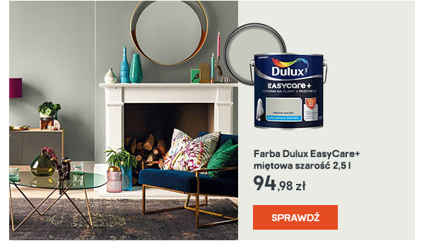 Farba Dulux EasyCare+ mietowa szarosc 2,5 l