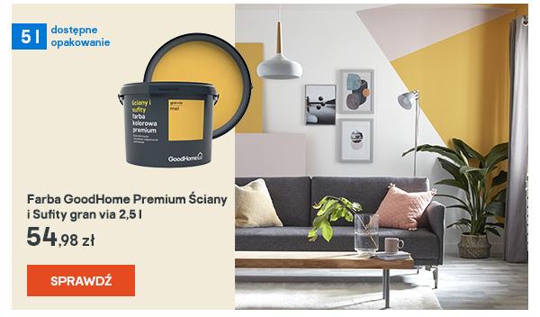 Farba GoodHome Premium Sciany i Sufity gran via 2,5 l